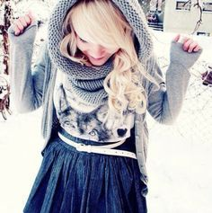 This is a super cute outfit for winter! •winter teen look