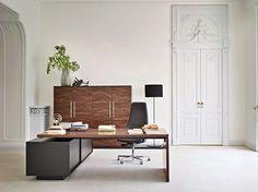 L-shaped sectional executive desk REPORT by Sinetica Industries design Baldanzi