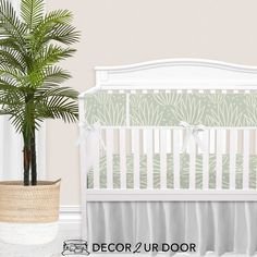 Desert nursery vibes. We love this modern, gender-neutral desert themed nursery bedding. This agave print is simple and sophisticated. Decorate the room with wood accents, macrame and texture for the boho nursery of your dreams. Girl Crib Bedding Sets, Girl Cribs, Nursery Bedding, Woodland Baby Bedding, Custom Baby Bedding, Designer Baby Blankets, Crib Rail Cover, Thing 1