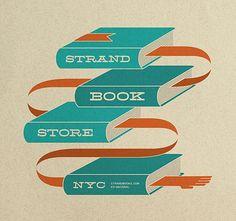 Strand Tote Bag – Ed Nacional / Graphic Designer / Brooklyn, NY Strand Bookstore, Book Purse, Cotton Bag, Graphic Design Typography, Vintage Prints, Book Design, Purses And Handbags, Paper Shopping Bag, Reusable Tote Bags