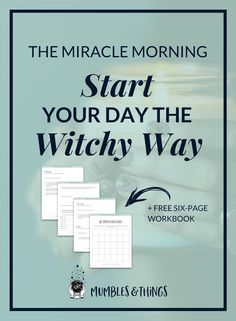 The Miracle Morning is a book and a lifestyle, which helps you design a more productive morning routine. In the time since I heard of it four years ago, it has really made a huge, positive impact on my life and I think it could help you too. Click through Miracle Morning, Morning Ritual, Real Magic Spells, Witchcraft For Beginners, Pagan Witch, Witches, Routine, Daily Meditation, Kitchen Witch