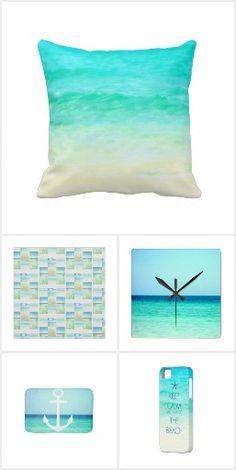 Dreamy Ocean Blues Coastal Homes, Coastal Living, Coastal Style, Coastal Decor, Ocean Room, Hawaiian Decor, Photo Pillows, Diy Clock, Coastal Furniture