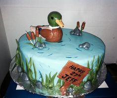 Birthday cake for an outdoorsman! (Mallard duck), by me JP........JP Cakes!