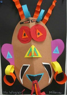 Student Gallery - Powered By OnCourse Systems For Education School Art Projects, Projects For Kids, Crafts For Kids, Arts And Crafts, Paper Crafts, African Art For Kids, Carnival Crafts, 4th Grade Art, Africa Art