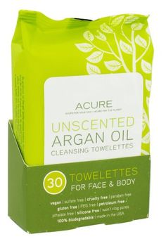 Acure Organics - Argan Oil Cleansing Towelettes For Face & Body Unscented - 30 Towelette(s) Acure Organics http://www.amazon.com/dp/B00H31NIAS/ref=cm_sw_r_pi_dp_Jwmzub1S6QM32