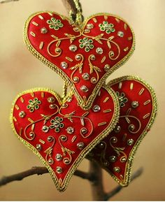 Heart shaped ornaments