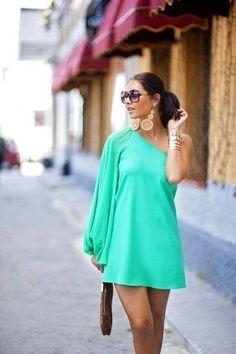 one shouldered #dress