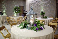 Love the lantern centerpieces. Would be great for outside tables...a lot like what we have at OEI...I wonder...