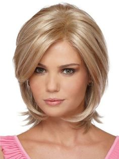 Soft Layered Hairstyles for round faces