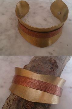 De latón con cobre Bracelets, Leather, Jewelry, Copper, Bangle Bracelets, Jewlery, Jewerly, Schmuck, Jewels