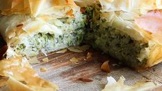 Zucchini and rice filo pie Recipe | Good Food