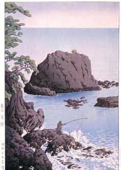 Nishikiura, Atami Kawase Hasui (Japan, 1883-1957) Japan, 1940 Prints; woodcuts Color woodblock print Image: 14 3/8 x 10 1/16 in. (36.5 x 25.5 cm); Paper: 15 3/8 x 10 3/8 in. (39.1 x 26.4 cm) Gift of Mr. and Mrs. Felix Juda (M.73.37.207) Japanese Art