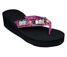 b209add92ea0f9 Peach Couture Womens Fashion Wedge Gem Stone Beaded Stylish Summer Platform  Sandal Pink 6