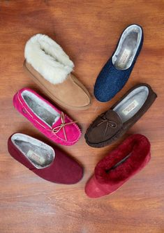 Shearling Slippers, Moccasins, Pairs, Shoes, Fashion, Fuzzy Slippers, Penny Loafers, Moda, Loafers