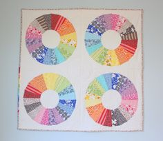 """True Colors Modern Dresden Circle Quilt by Amy Smart of """"Diary of a Quilter"""" blog"""