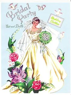 Bridal Party Cut-Out Dolls by Hilda Miloche (1 of )