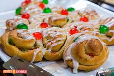 Prep for Christmas w/ Blue Ribbon Baker, Marjorie Johnson's Christmas Tree Coffee Cake! Catch #homeandfamily weekdays at 10/9c on Hallmark Channel!