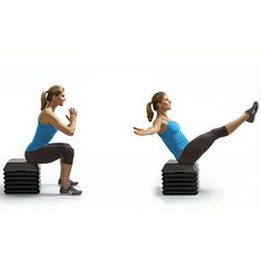 Skip planks and sit-ups, try THIS instead! This move elevates your heart rate much more than a plank and is more challenging to your leg, hip, butt, and deep core muscles. burn fat like crazy Fitness Tips, Fitness Motivation, Health Fitness, Sweat It Out, Core Muscles, Burn Calories, Get In Shape, Get Healthy, Fitness Inspiration
