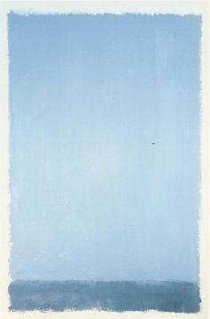 "dailyrothko: ""Mark Rothko, Untitled, 1969, Acrylic on paper, 74-1/8 x 48-1/8 in. (188.3 x 122.3 cm) """