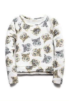 Crazy Cats Sweatshirt (Kids) | FOREVER21 girls - 2000090769