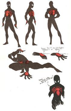 Spiderman by Rick Leonardi Comic Book Artists, Comic Book Characters, Marvel Characters, Comic Character, Comic Books Art, Comic Art, Deadpool And Spiderman, Spiderman Suits, Spiderman Art