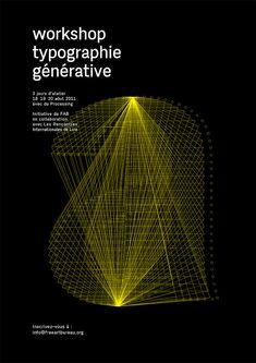 Generative Typography - workshop poster, by Free Art Bureau