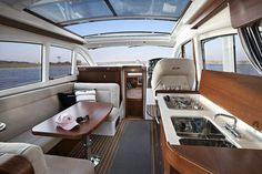 boat interior restoration | Boat Interior Design, Designer Luxury Boats And Yachts