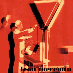 Leon Theremin Pop art print rolled canvas by Popartworks on Etsy