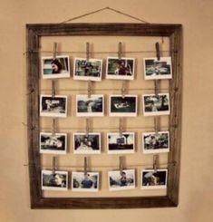 10 skvělých nápadů pro útulný domov, které si dokážete vyrobit sami Cardboard Frames, Diy Cardboard, Diy Crafts To Do, How To Make Diy, Diy Photo, Cadre Photo Polaroid, Narrow Rooms, Secret Rooms, Creative Pictures