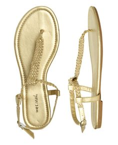 Metallic Braided Sandal: $9.50