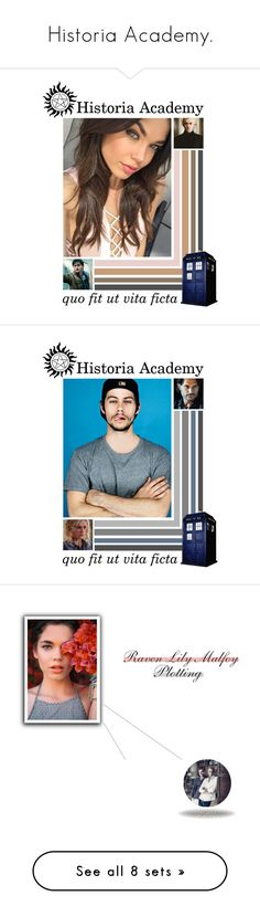 """Historia Academy."" by purplexlittlexbear ❤ liked on Polyvore featuring River Island, George, Arizona, SELECTED, Officine Générale, Yamaha, Christian Louboutin, HistoriaAcademyRound01 and art"