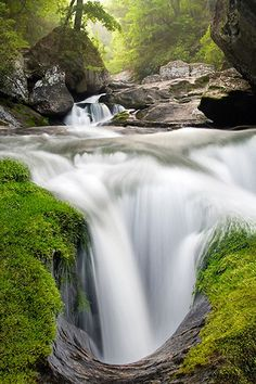 EVOLUTION RIVER -- Cullasaja Gorge, NC by Light of the Wild, via Flickr