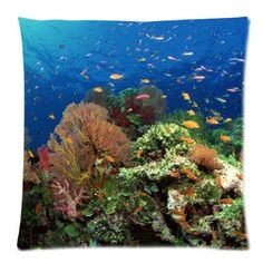 sea animal world Zippered Pillow Cases 18x18 Inch Super light Def Planet