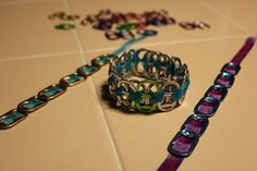 Ribbon Pop Tab Bracelets - I just made these.  So fun and easy