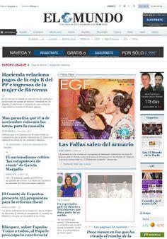 Ayer nuestra portada en primera página de el Diario El Mundo