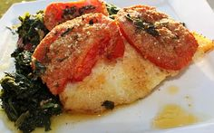 Baked Haddock with Spinach and Tomatoes Recipe. This is such a great dish! It looks really fancy, but the flavor isn't too complicated like other gourmet recipes. I pair it with couscous and it is amazing! Definitely a recipe we have used a few times!