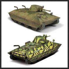 World of Tanks - Soviet Light Tank BT-SV Free Paper Model Download - http://www.papercraftsquare.com/world-tanks-soviet-light-tank-bt-sv-free-paper-model-download.html