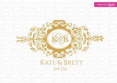 luxury wedding monogram by Linvit on Etsy