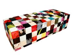 Dyed cowhide Ottoman Banquettes, Cowhide Ottoman, Home And Deco, Decoration, Decorative Boxes, Carpet, Avalanche, Chair, Interior