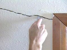 Repair Cracks and Holes in Drywall The has written and video instructions on how to fix cracks, holes and dents in drywall.The has written and video instructions on how to fix cracks, holes and dents in drywall. Home Improvement Loans, Home Improvement Projects, Home Remodeling Diy, Home Renovation, Bathroom Renovations, Easy Projects, Home Projects, Drywall Repair, Fixing Drywall Holes