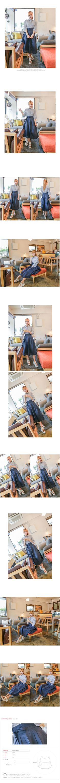 striped buttonup + hanbok skirt