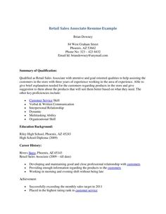 examples of job resume