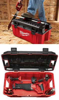 new milwaukee tools. you can drop this tool box literally 1000 thousand times filled with of tools \u0026 it\u0027ll be just fine. milwaukee has also loaded a ton handy features into new