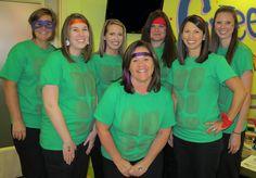 Halloween 2014-Ninja Turtles Dr. Marc E. Goldenberg, Dr. Kate M. Pierce, and Dr. Matthew S. Applebaum Pediatric Dental Office Greensboro, NC