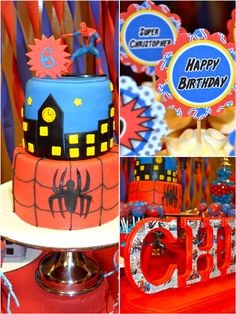 amazing birthday parties | Bird's Party Blog: An Amazing Spiderman Inspired Birthday Party