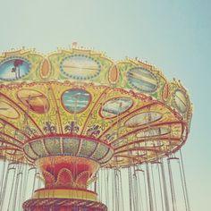 Vintage sky ride.  Carnival