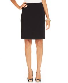 Karen Kane Black Knit Pencil Skirt - Skirts - Women - Macys #Karen_Kane #Fashion #Macys