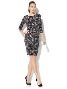 5c94f1e81b9 Side Tie Knit Dress - Dot Print - New York   Company