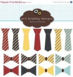 50 OFF SALE Dad's Stitched Ties and Bowties by ErinBradleyDesigns, $2.50