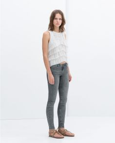Image 1 of FRILLY TOP from Zara